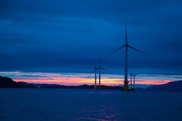 Hywind Scotland. Equinor press image. Credit - Jan Arne Wold 2F Woldcam -  Statoil - Hywind Scotland - 1461843