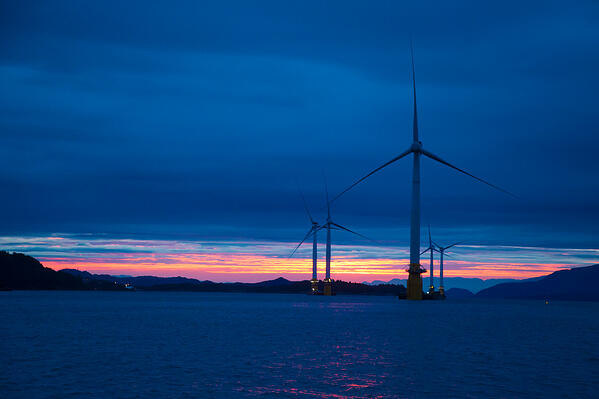 Hywind Scotland. Equinor press image. Credit - Jan Arne Wold 2F Woldcam -  Statoil - Hywind Scotland - 1461843